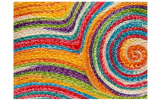 Colorful threads tapestry